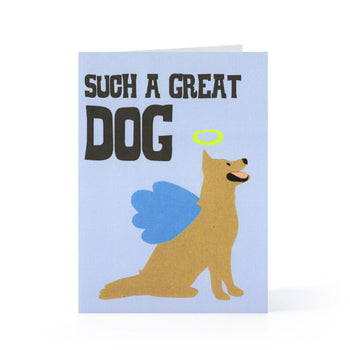 Angel Dog Blank Card