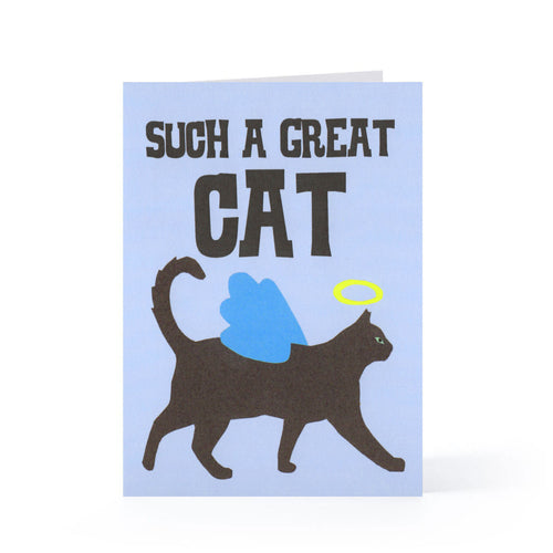 Angel Cat Blank Card