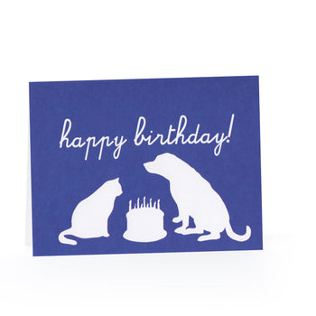 Happy Birthday Blank Card (Animal Silhouettes)
