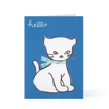 Hello Kitten Blank Card