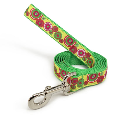 Rita Bean Engraved Buckle Personalized Dog Collar - Groovy Dots