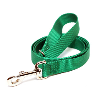 Rita Bean Dog Leash - Nylon Webbing (Hunter Green)