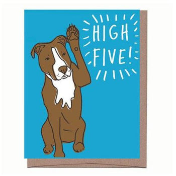 High Five Card (Dog)