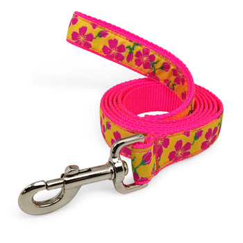 Rita Bean Dog Leash - Passion Flower (Pink)