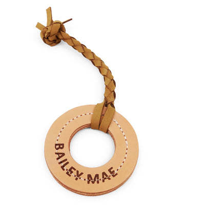 Rita Bean Personalized Leather Fetch Dog Toy - Ring
