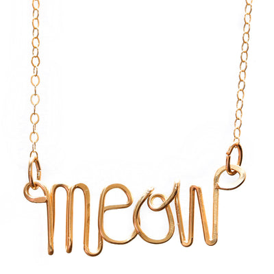 Meow Necklace - Gold