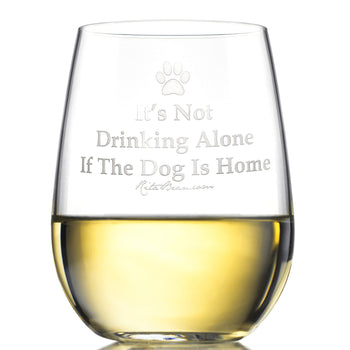 Stemless Wine Glass - It's Not Drinking Alone (Set Of Four)