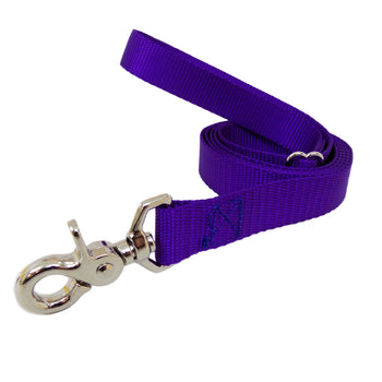 Rita Bean Dog Leash - Nylon Webbing (Purple)