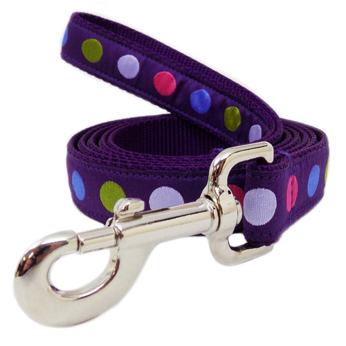 Rita Bean Dog Leash - Purple Dots