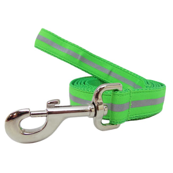 Rita Bean Dog Leash - Reflective Stripe (Neon Green)