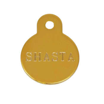 Rita Bean Dog Tag - American Classic Brass Circle (Small)