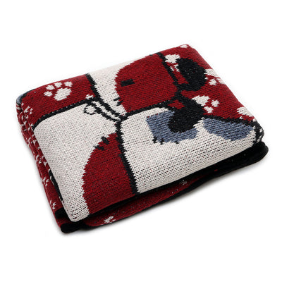 Four Stacked Dogs Throw Blanket