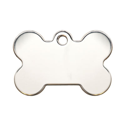 Rita Bean Dog Tag - American Classic Chrome Bone (Small)