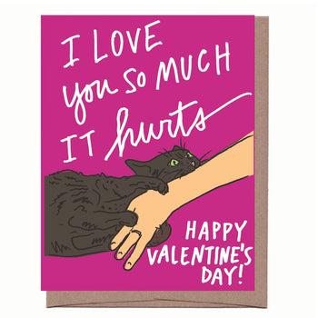 Cat Bite Valentine Card