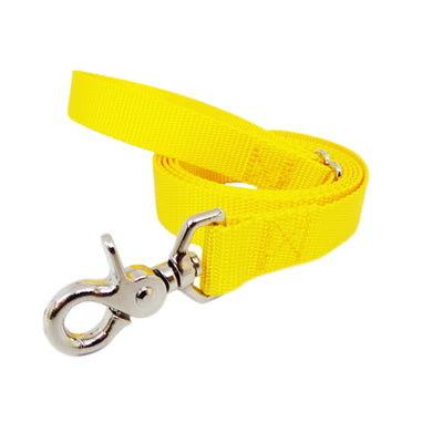 Rita Bean Dog Leash - Nylon Webbing (Yellow)