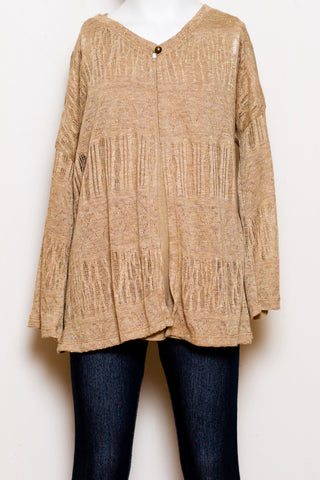 Lurex Pointelle Cardigan