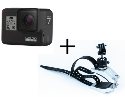 GoPro Hero7 Black + NFlightCam Strut Clamp Mount Package