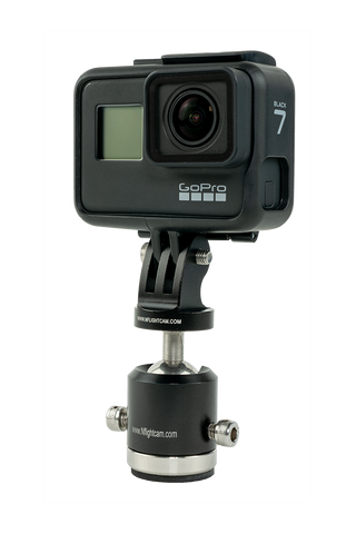 GoPro Hero7 Black + NFlightCam Exterior Ball-Head Mount Package