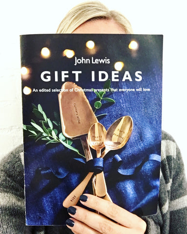 John Lewis Christmas Gift Guide Catalogue Rose Gold Cutlery