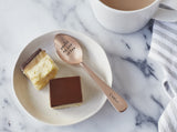 Personalised Rose Coloured Gold Teaspoon