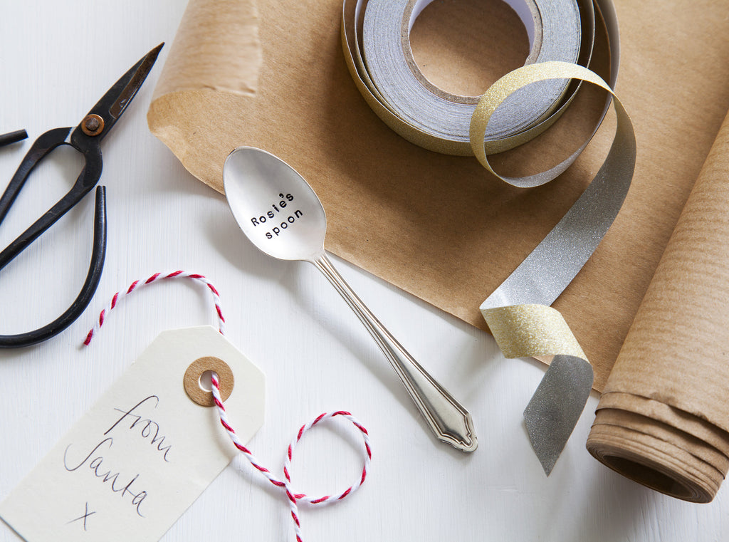 Personalised Secret Santa Vintage Spoon