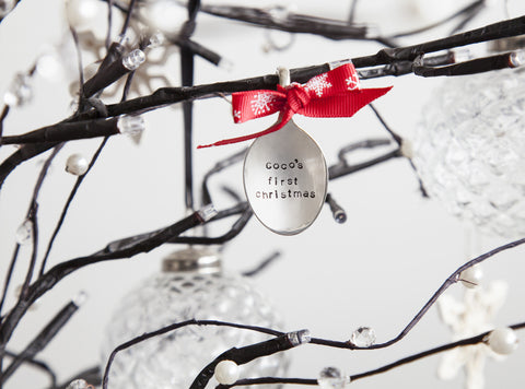 Personalised Silver Plated Tree Decoration