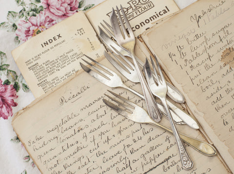 Personalised Vintage Cake Fork Set