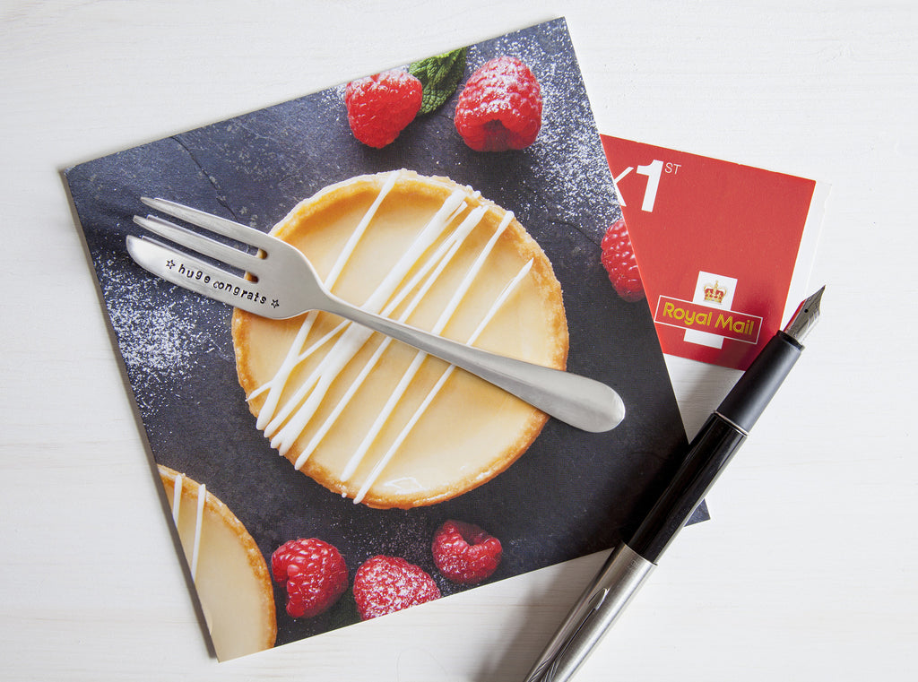 Personalised Fork Congratulations Card