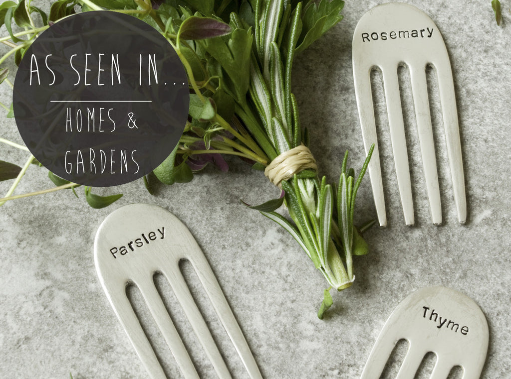 Sawn-off Silver Plated Herb Markers