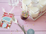 Pearlescent Sugar Sprinkled Hidden Message Chocolate Spoon