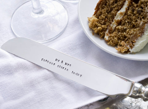 'Mr & Mrs, Forever Starts Today' Cake Knife
