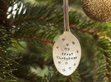 My First/Our First Christmas Hanging Spoon Tree Decoration