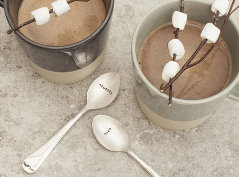 Naughty & Nice Coffee Spoon Set