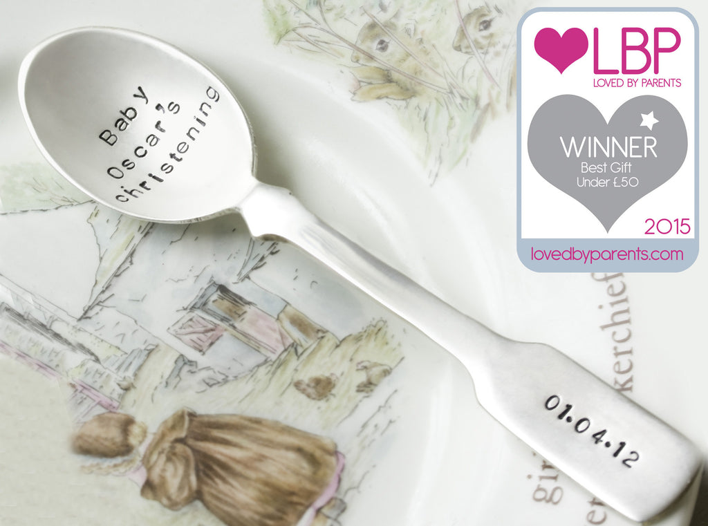 Personalised Silver Plated Fiddle Spoon - Seconds