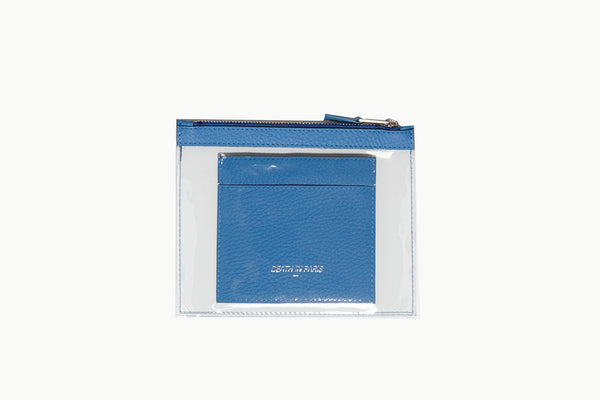 Photo of Death in Paris Mini Vasistas Bleu nappa leather and clear pvc wallet