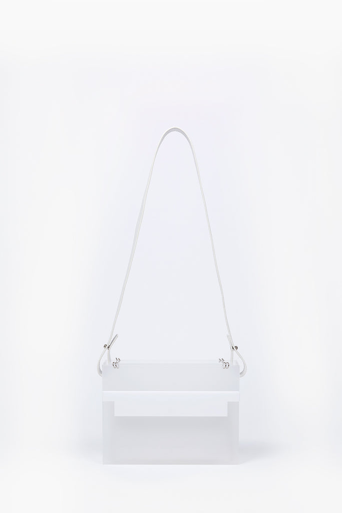 Photo of Death in Paris Eclipse Blanc white acrylic box bag