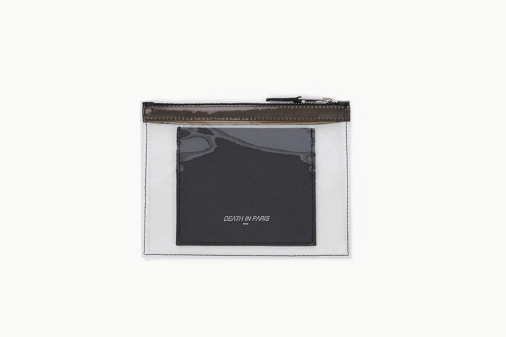 Photo of Death in Paris Mini Vasistas Noir Metal black nappa leather and clear pvc wallet