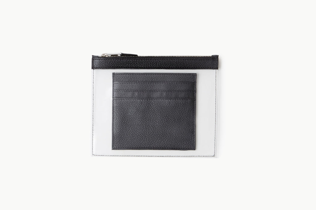 Photo of Death in Paris Mini Vasistas Noir black nappa leather and clear pvc wallet
