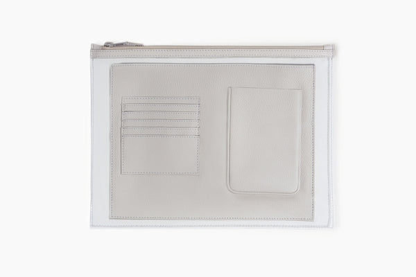 Photo of Death in Paris Vasistas Acier nappa leather and clear pvc organizer clutch bag