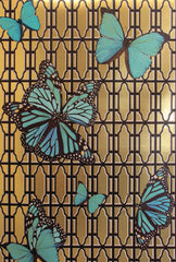 Butterflies on Gate Wallpaper by Circa Wallcovering