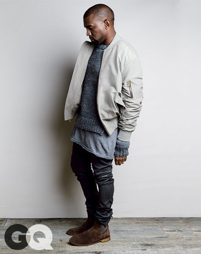 Kanye West for GQ Magazine August 2014 shot by Patrick Demarchelier2
