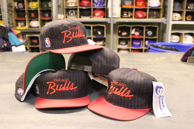 3f86a3883d637 Vintage Chicago Bulls Script Snapbacks – F As In Frank Vintage