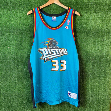 Vintage Champion Detroit Pistons NBA Basketball Jersey
