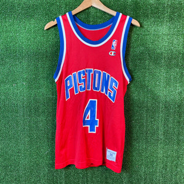 Vintage Champion Joe Dumars Detroit Pistons NBA Basketball Jersey