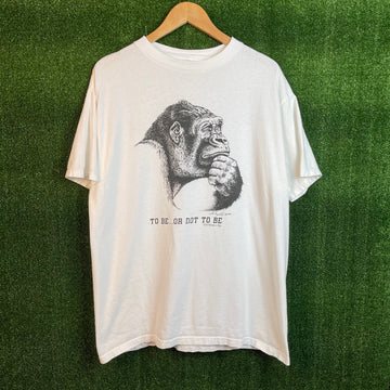 Vintage Gorilla To Be Or Not To Be T Shirt