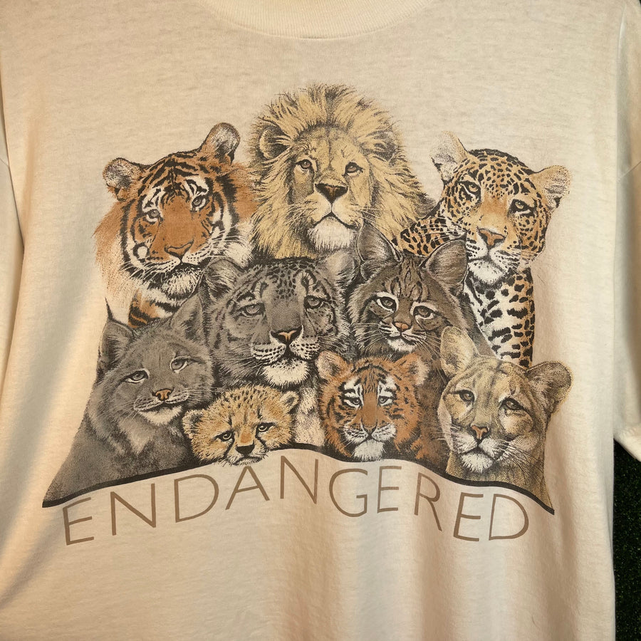 Vintage Endangered Animals T Shirt