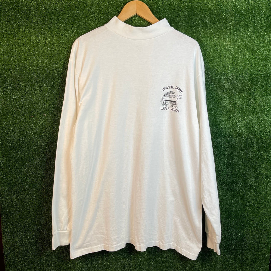 Vintage Save The Whales Mock Neck Long Sleeve