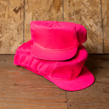 Wholesale Deadstock Pink Corduroy Hats (Lot of 12)