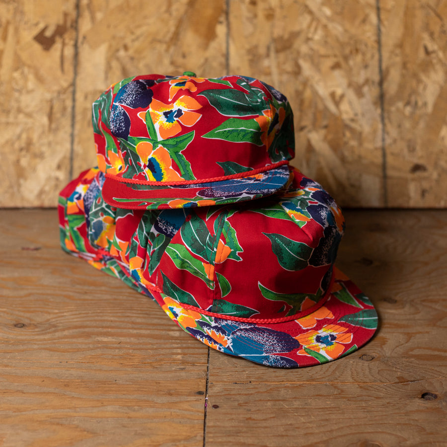 Wholesale Deadstock FAIF Red Hawaiian Snapback Hats (Lot of 12)