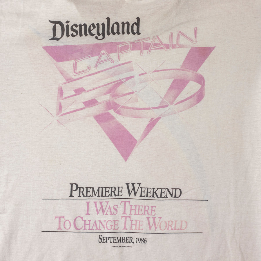Vintage 80's Disneyland Captain Premiere Single Stitch T-Shirt sz L